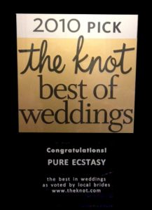 2010 Pure Ecstasy's knot-award Best Bay area wedding band